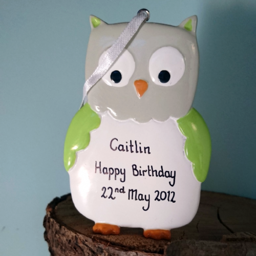 Personalised Owl Green